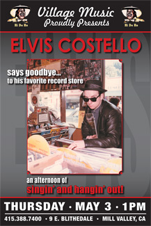 Elvis Costello In-Store Appearance